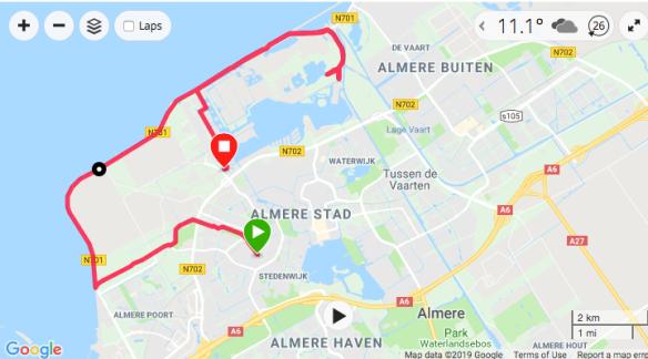 26km running route